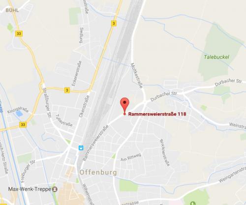 Karte Offenburg
