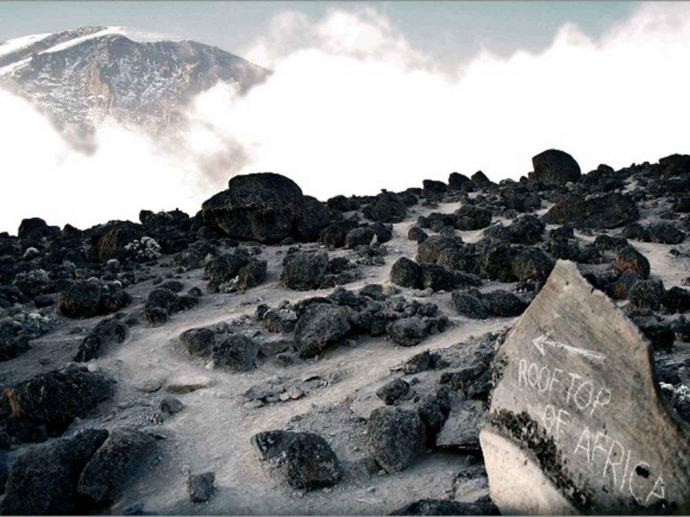 140W51015 Kilimandscharo - Western Breach & Crater Camp Karte