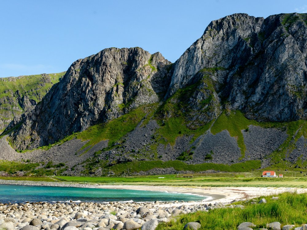 Stand in Unstad auf den Lofoten