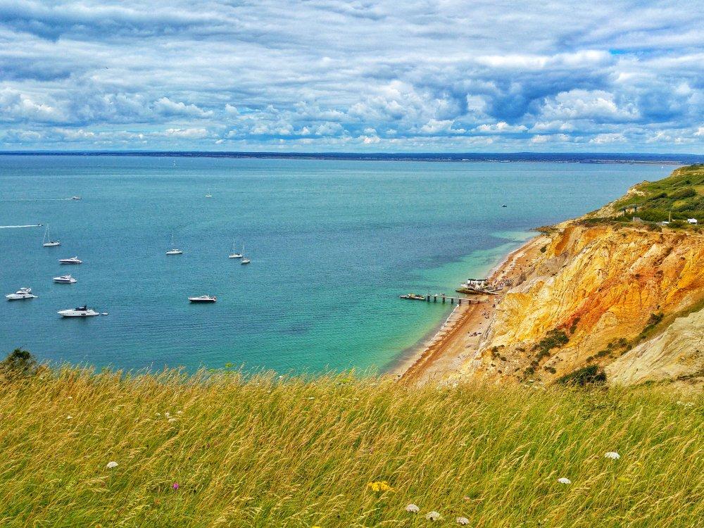 Ausblick auf die Küste auf der Isle of Wight