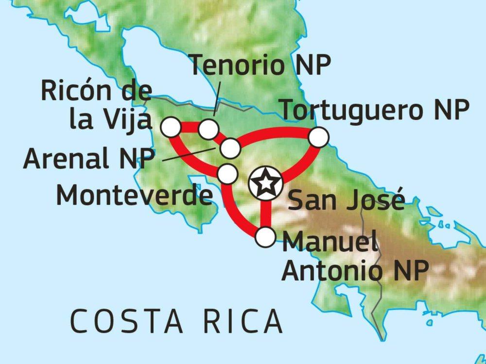 198Y21007 Grünes Paradies Costa Rica Karte