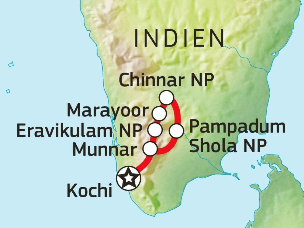 Munnar aktiv erleben Karte