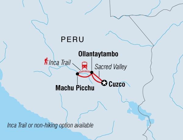 122Y60130 Trekkingabenteuer Inka Trail Karte