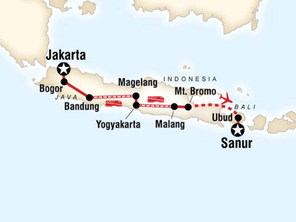 130G35018 Entdecke Bali und Java Karte