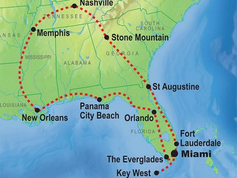 139Y10068 Southern Dixieland Karte