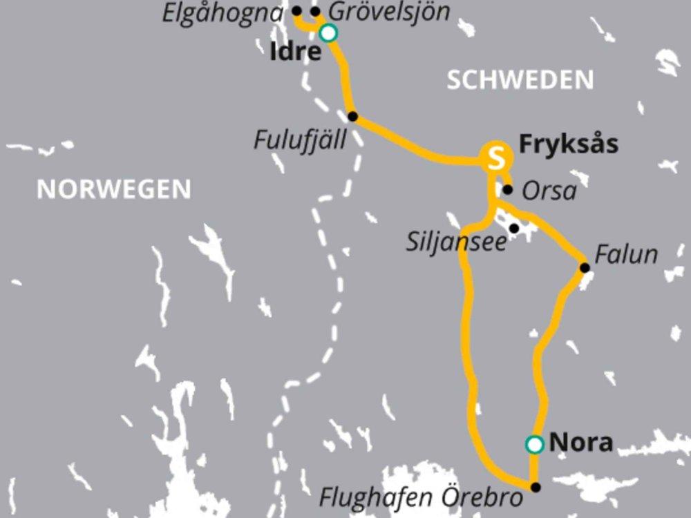 123H10029 Auf Bärensuche in Schwedens Wildnis Karte