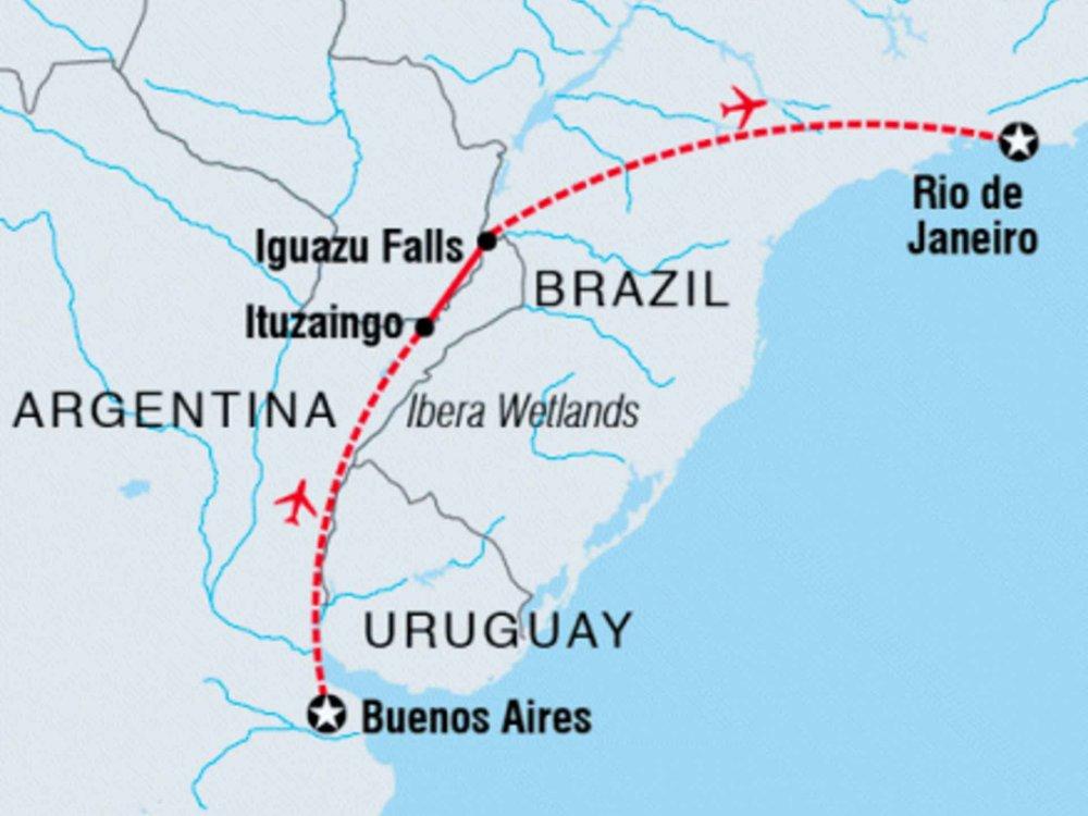 122Y60421 Argentinien & Brasilien Adventure Karte