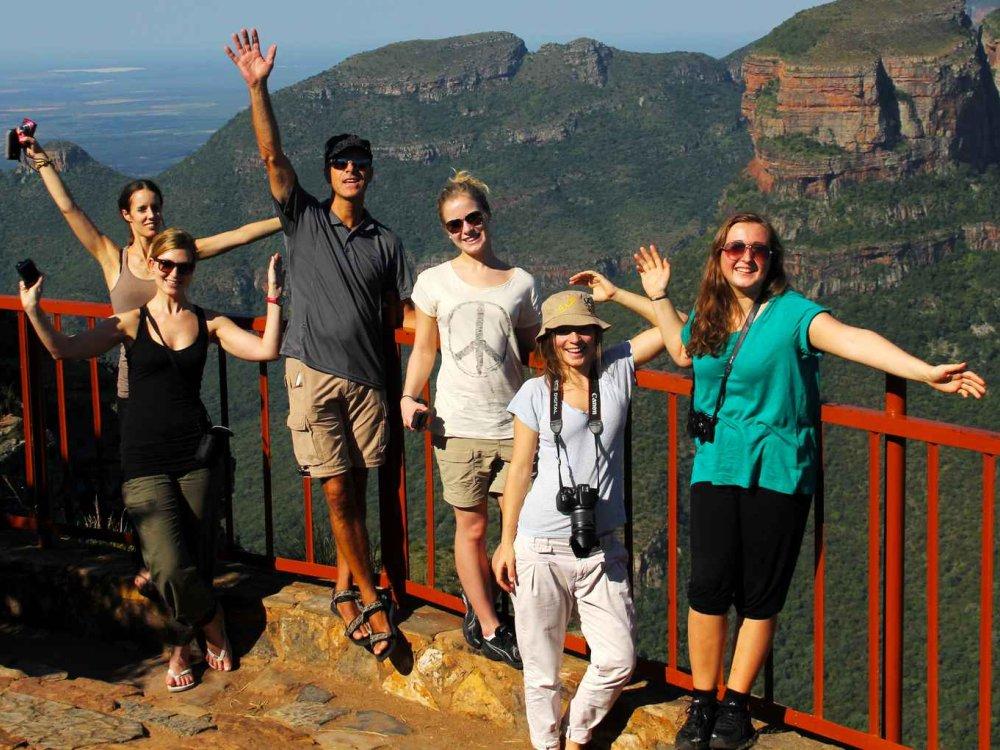 Reisende auf der Südafrika Erlebnisreise