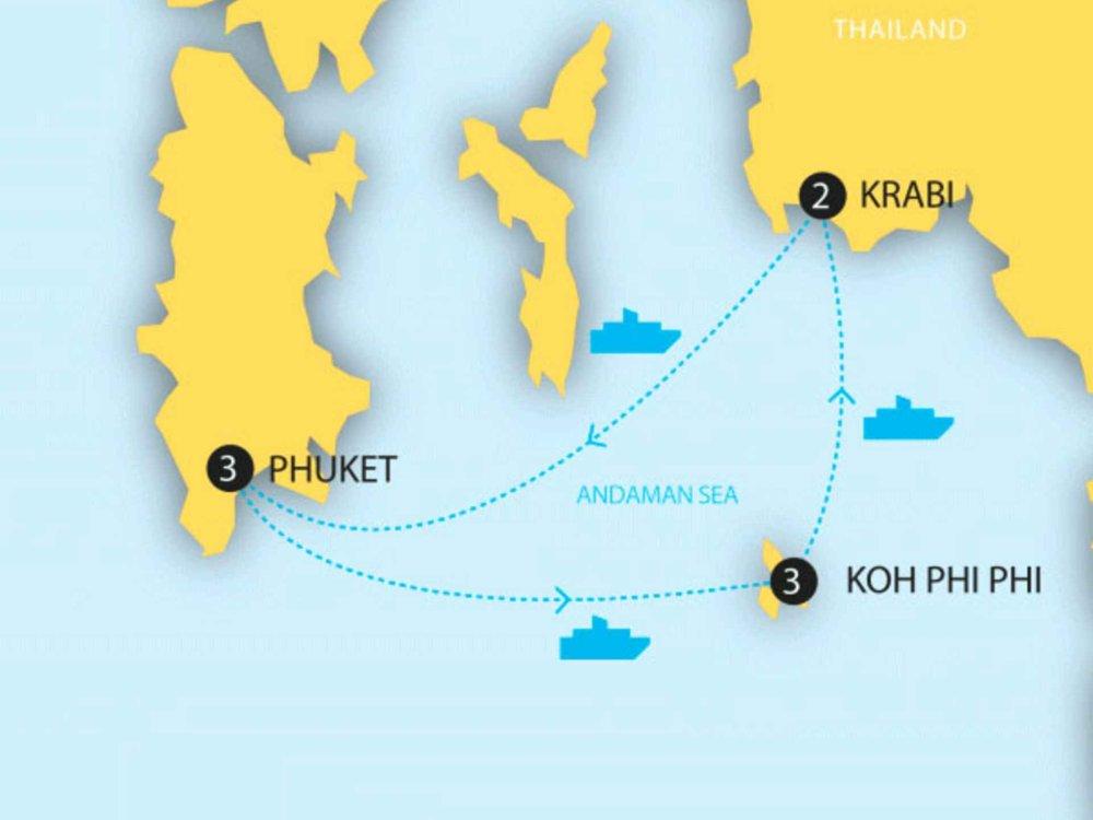 174Y20010 Thailands Inseln - Phuket, Krabi & Koh Phi Phi Karte