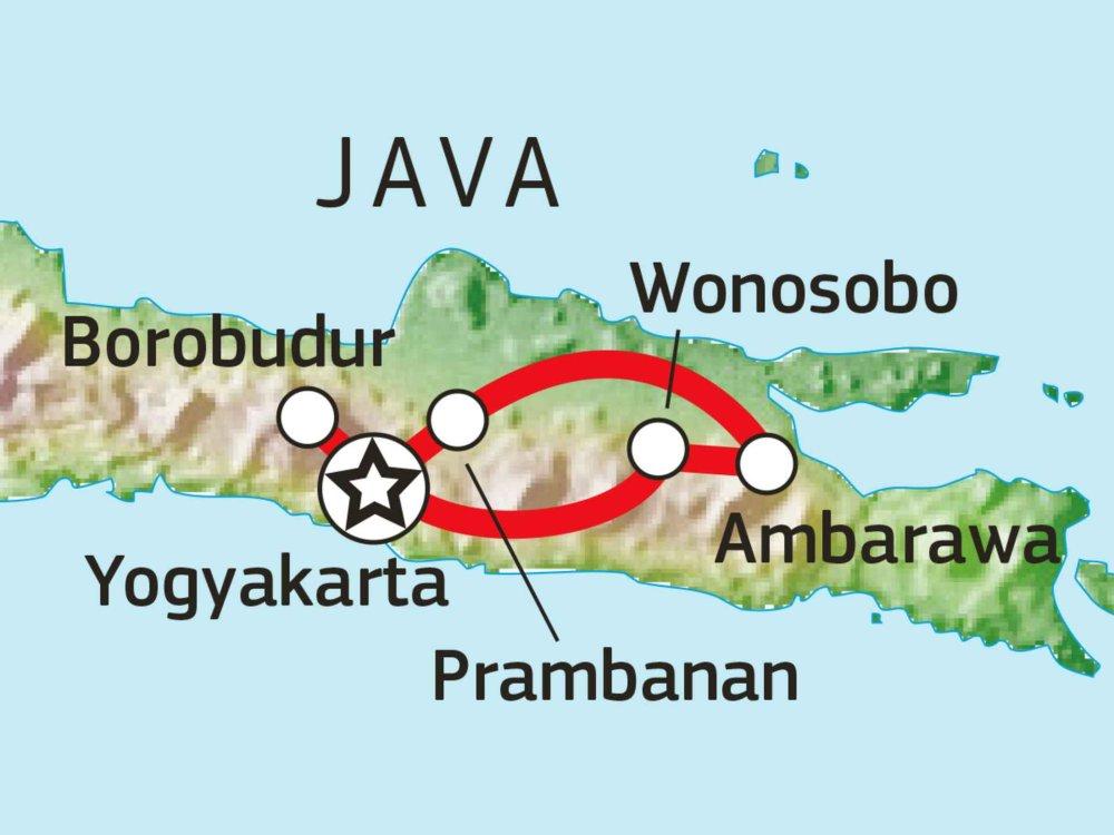 124Y21040 Kultur & Natur im Herzen Javas Karte