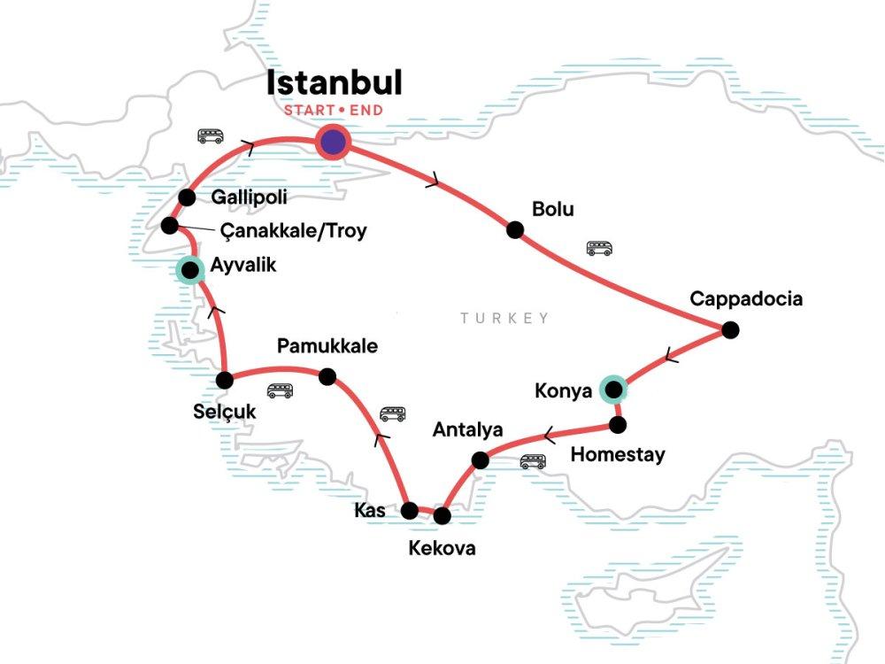 Highlight Türkei Karte