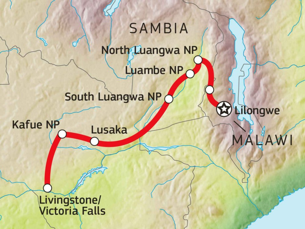 107S30001 Expedition Sambia Karte