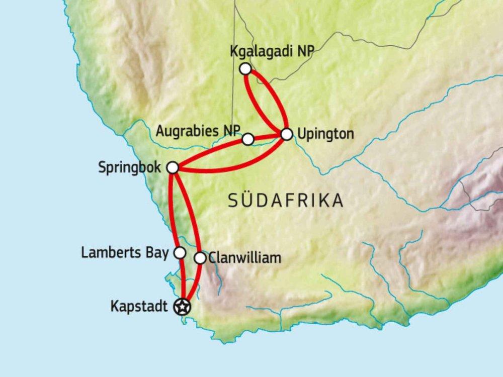 155Y00002 Südafrikas unbekannter Westen Karte