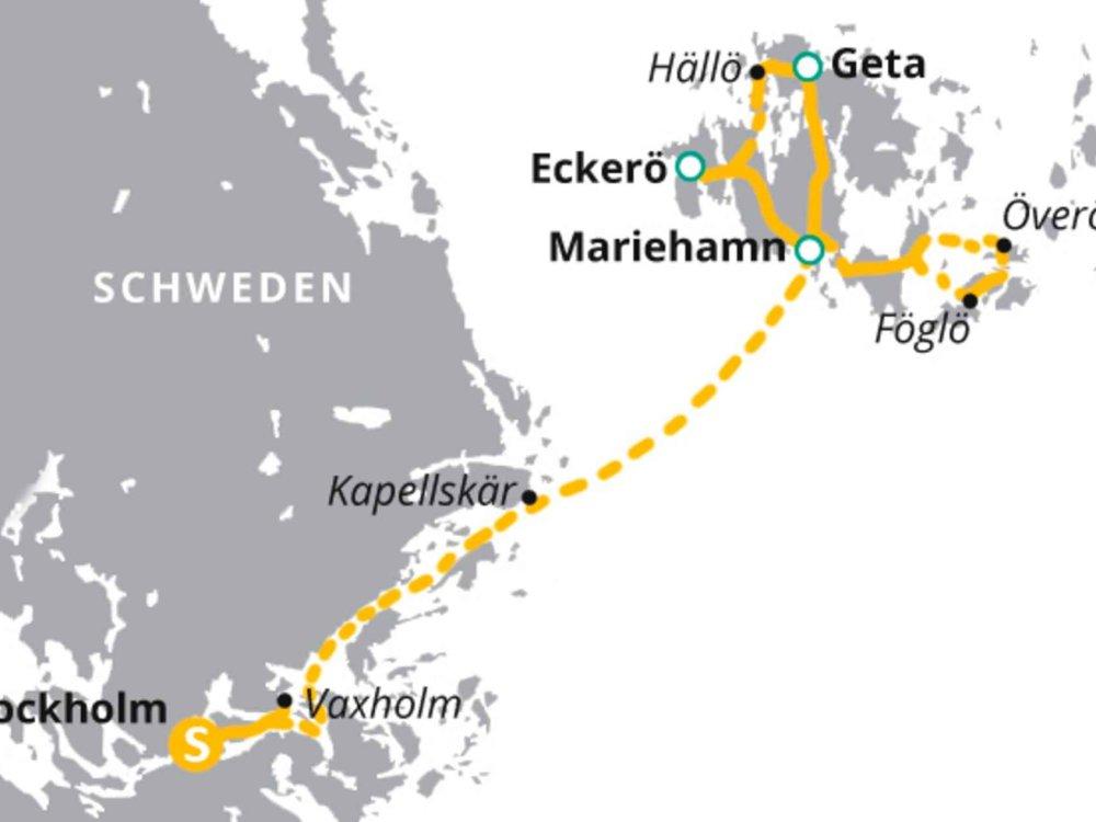 123H10037 Radtour auf den Schäreninseln Karte