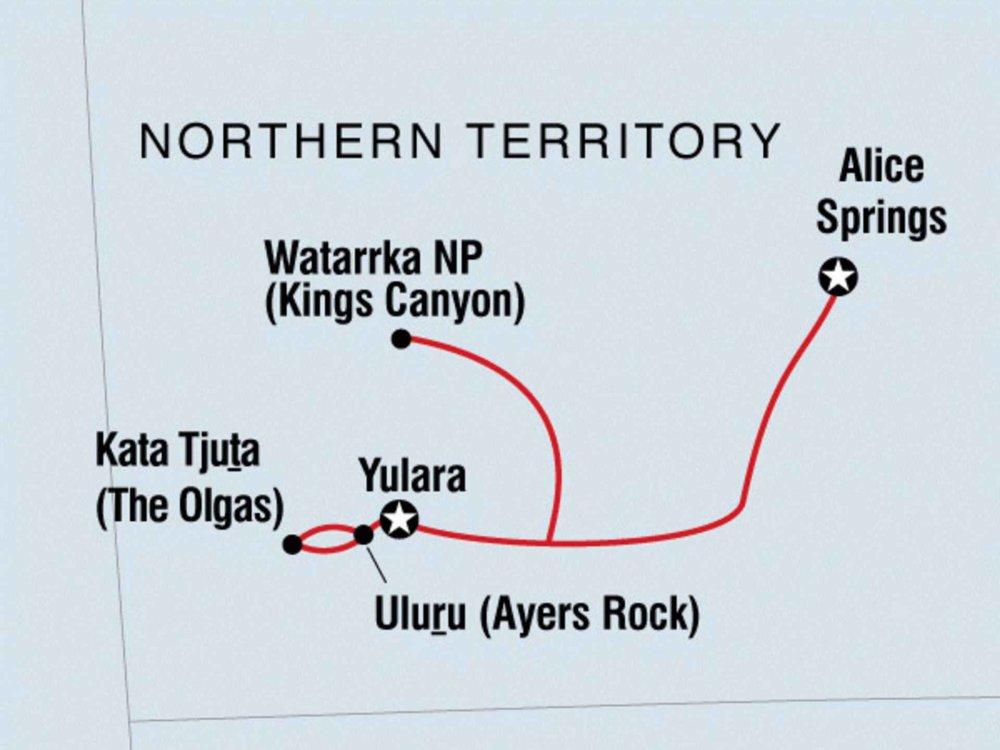 104A20003 Uluru Abenteuer Karte