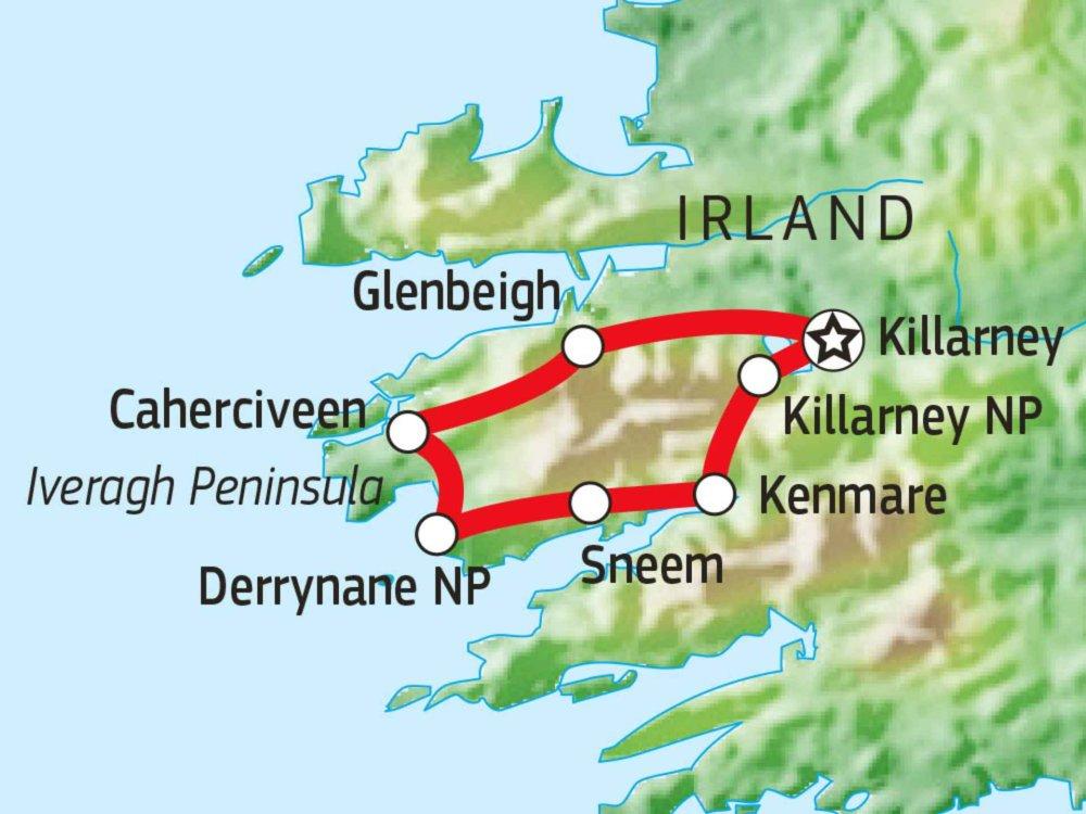 123W10001 Kerry Way Wanderreise Karte