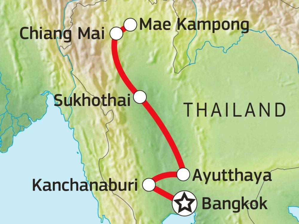152K10020 Kultur und Natur Nordthailands Karte