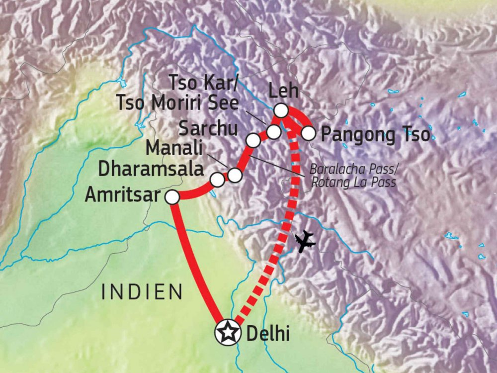 164Y10002 Ladakh - Verstecktes Königreich Karte
