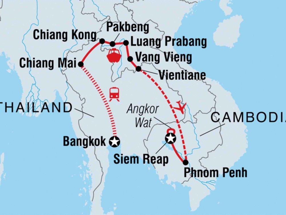 131Y21113 Erlebe Laos und Kambodscha Karte