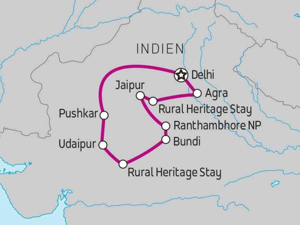122Y10098 Rajasthan Classic Karte
