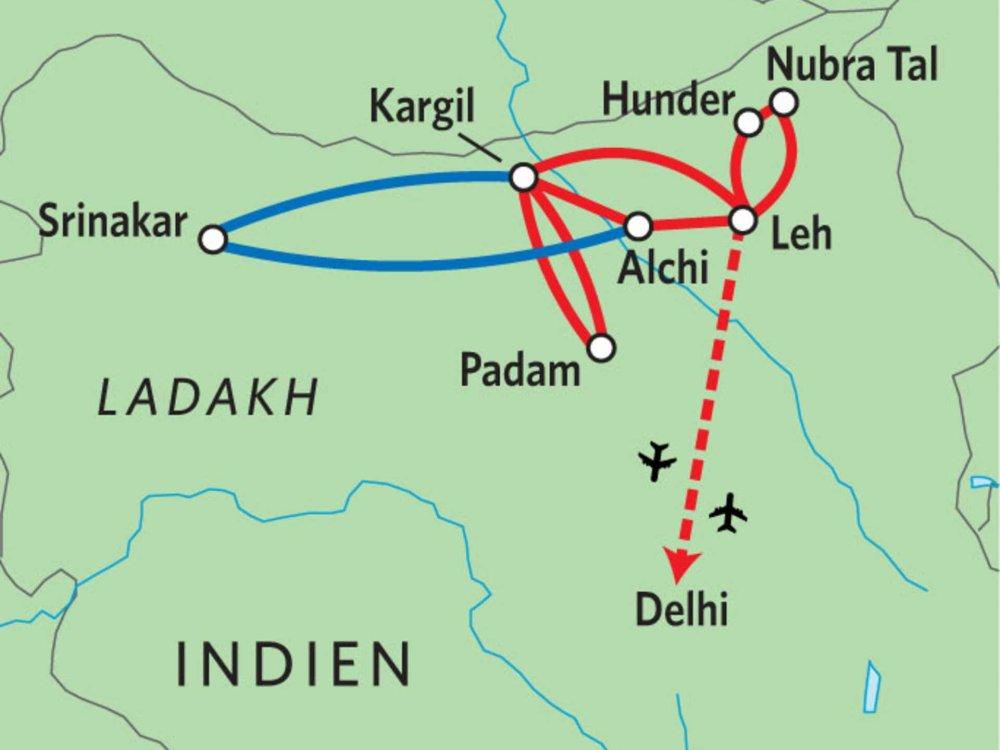 164Y10001 Ladakh & Zanskar - Buddhismus, Klöster & Himalaya Karte