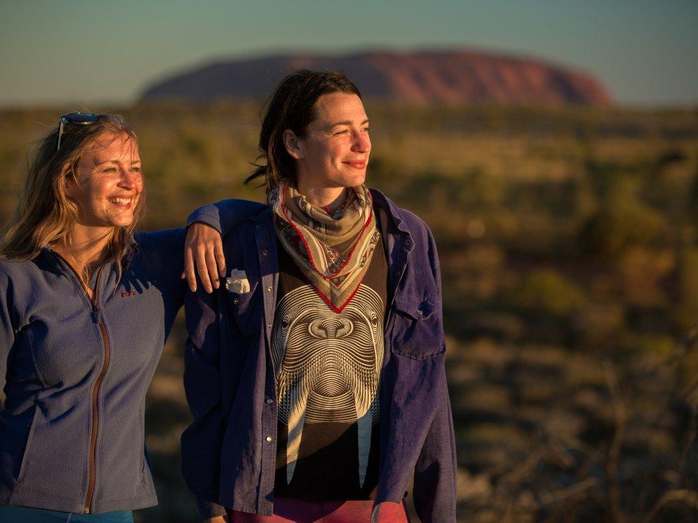 Sonnenuntergang am Uluru genießen