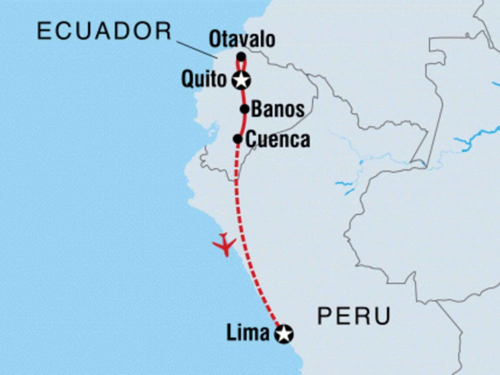 131Y21152 Von Ecuador nach Lima Karte