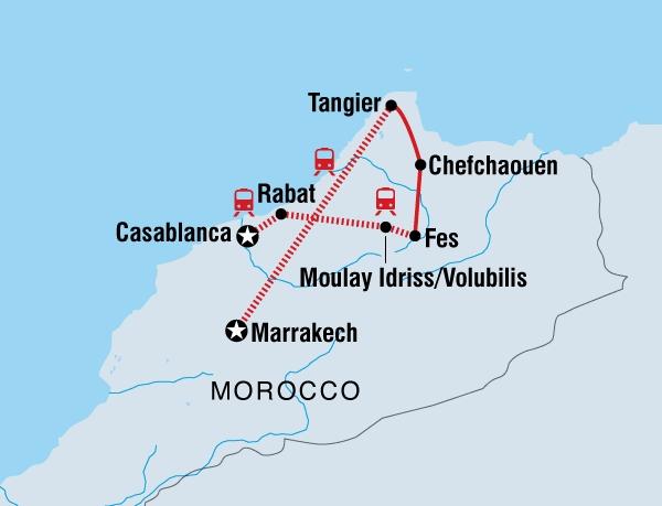 Marokkos faszinierender Norden Karte