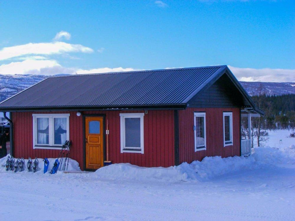 Unsere Ferienhütte in den Bergen von Schwedisch Lapplan