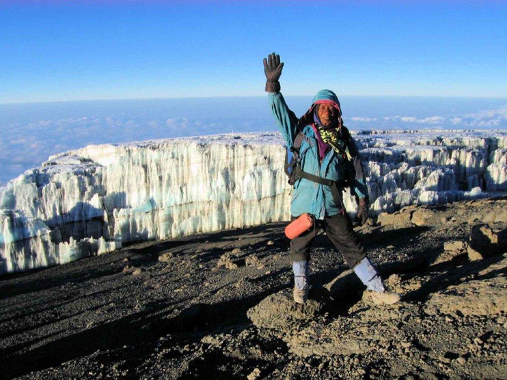 Bergführer am Kilimandscharo