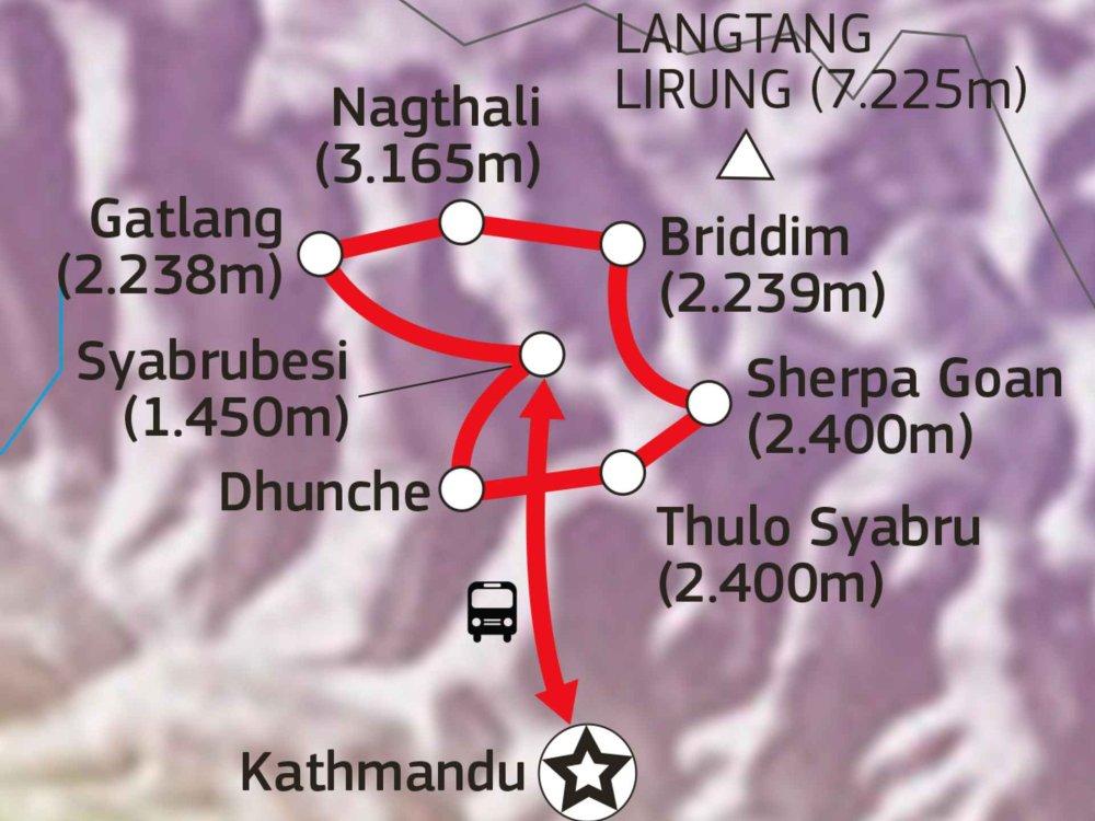 161Y30072 Tamang Heritage Trail Karte
