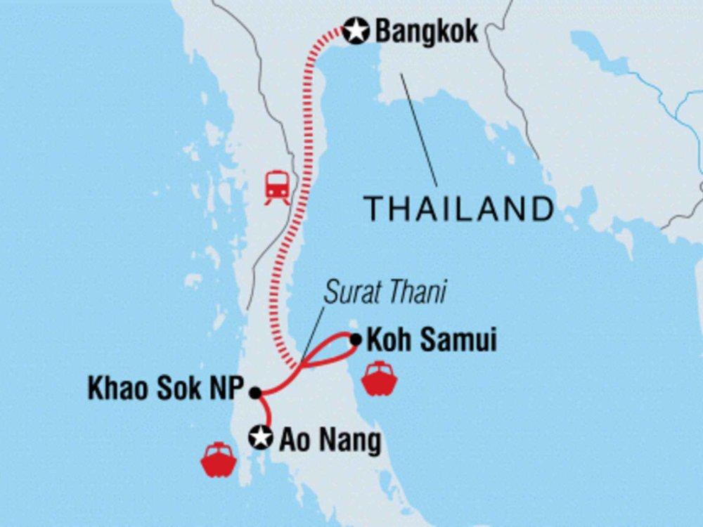 131Y21103 Super South Thailand Karte