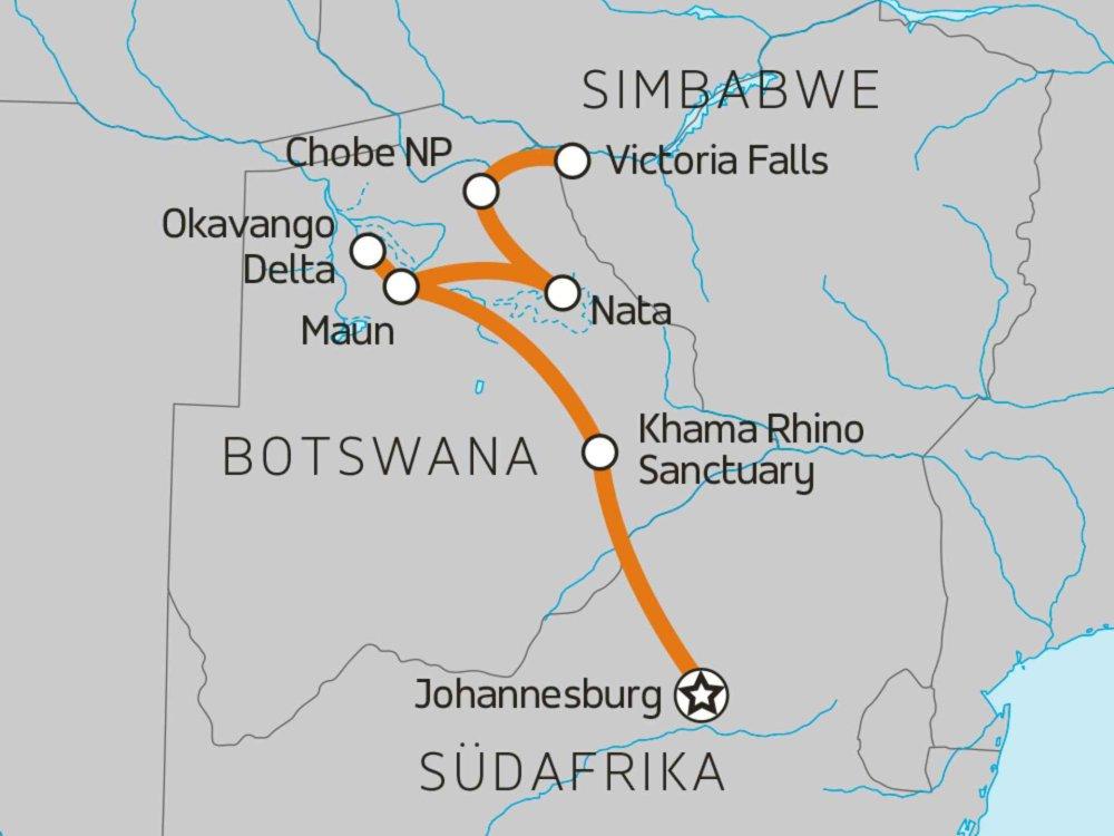 122Y60057 Naturerlebnis Okavango Karte