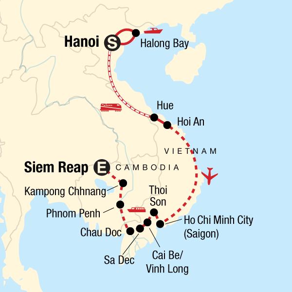 130Y50200_Karte_Vietnam_Erlebnisreise_Mekong_Flusskreuzfahrt