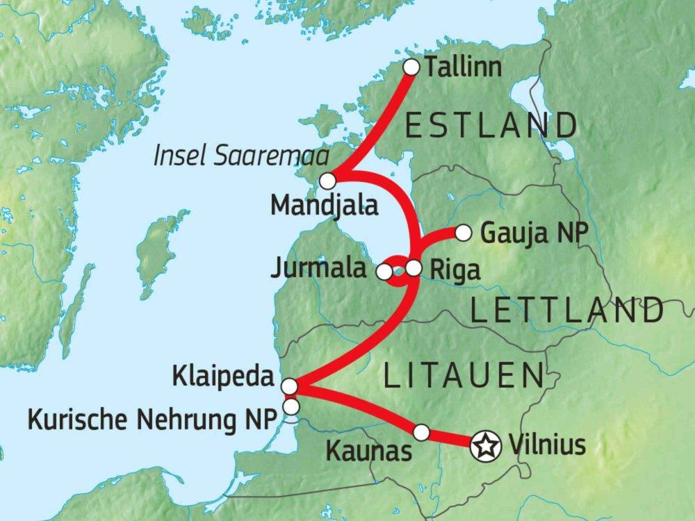 149Y10010 Durchs Baltikum mit dem Fahrrad Karte