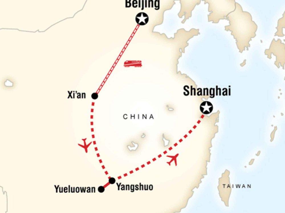 130G35012 Erlebnis China Karte