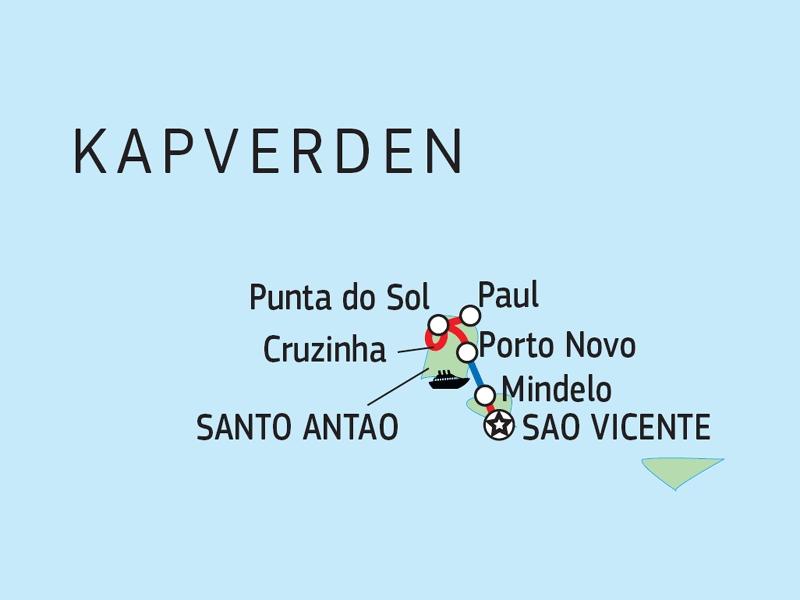 110Y12001 Kapverden - Entdeckungsreise Nordinseln Karte