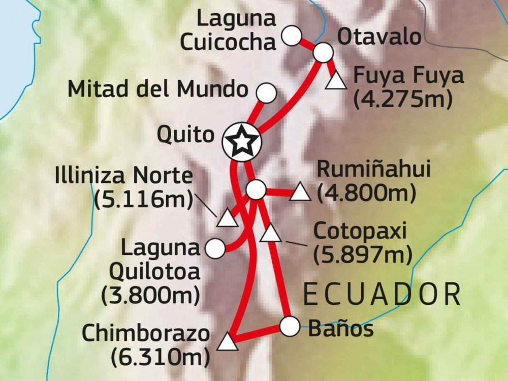 198Y30009 Vulkanabenteuer Ecuador Karte