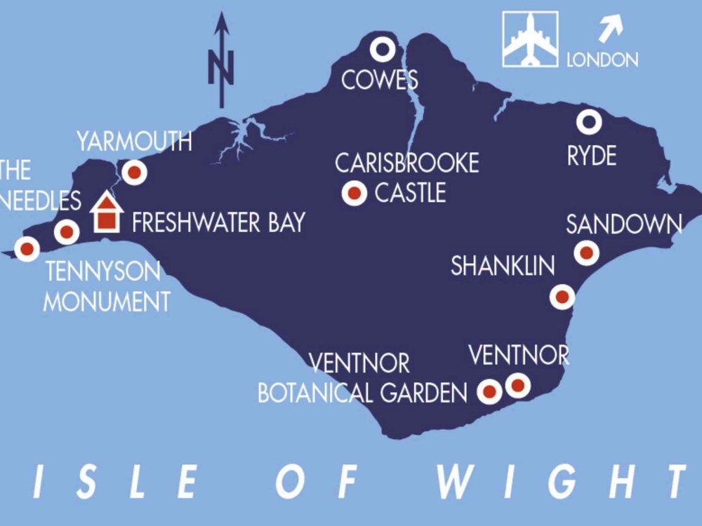 123B30016 Isle of Wight Wanderreise Karte