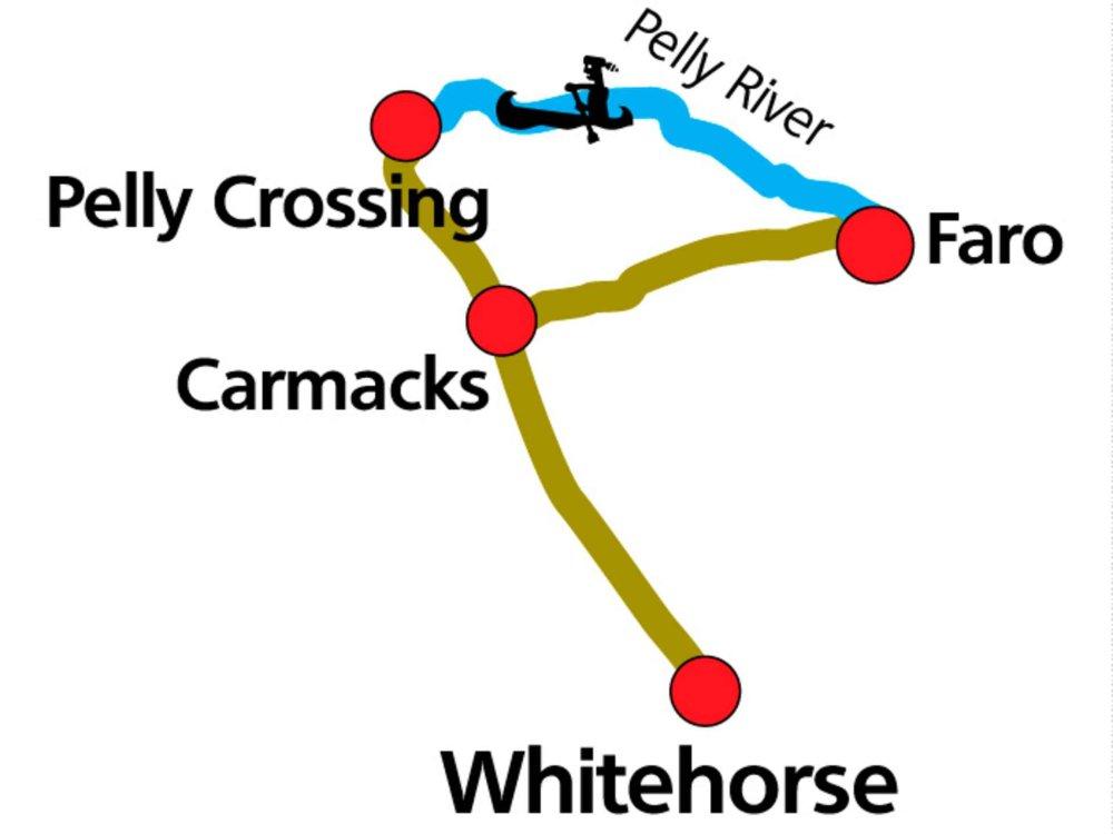 187Y31029 Voyageurs Nordwest-Route - Kanutour auf dem Pelly River Karte