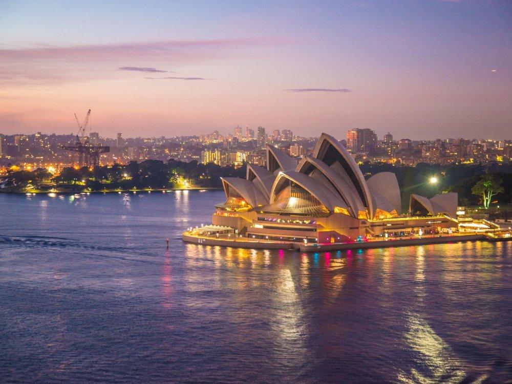 Sydney Hafen und Opernhaus
