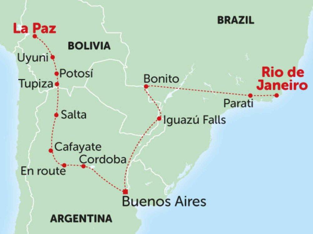 135Y10002 Von den Anden nach Rio de Janeiro I Karte