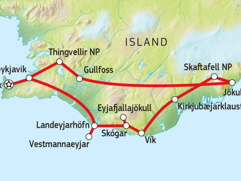 147Y10102 Island - Wunderwelt aus Feuer & Eis Karte