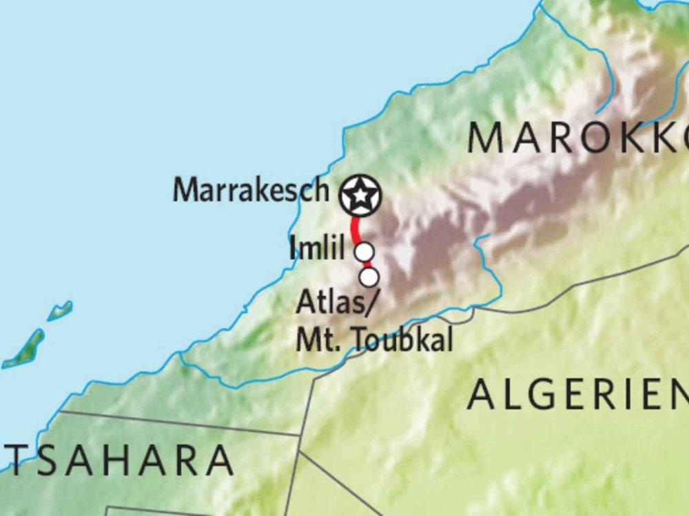172Y51003 Mount Toubkal Besteigung (Winter) Karte