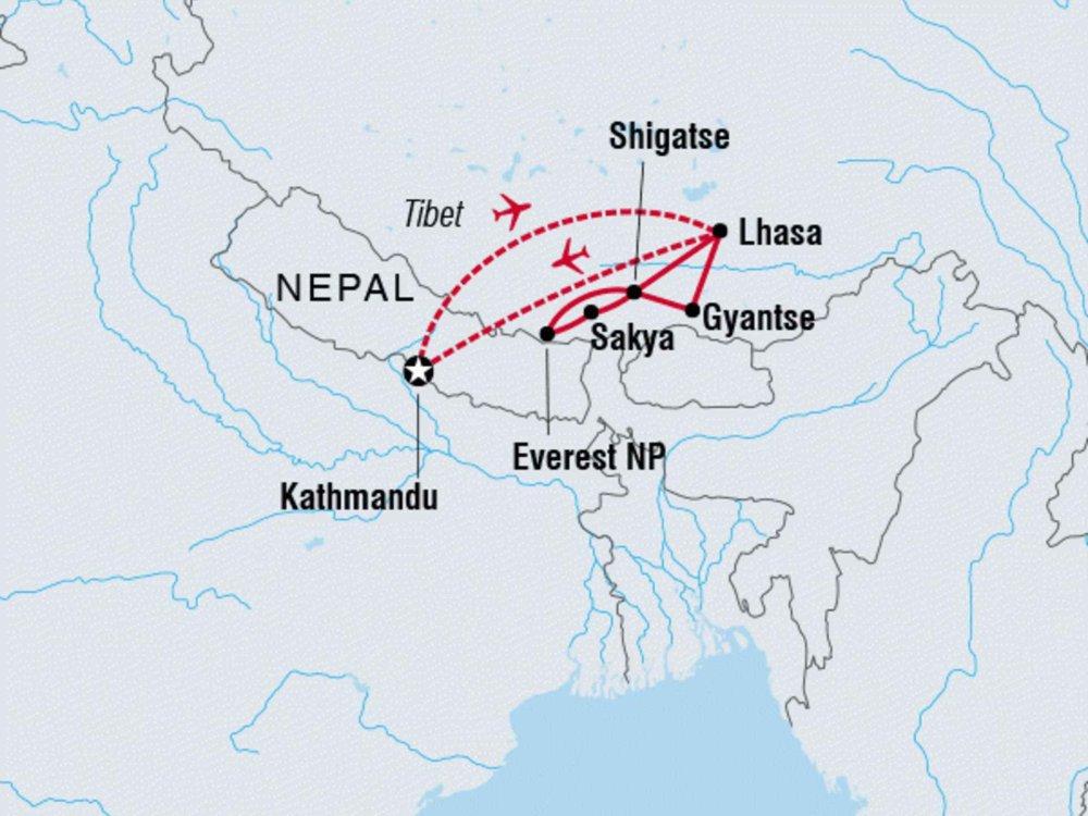 122Y30087 Tibet - Dach der Welt Karte