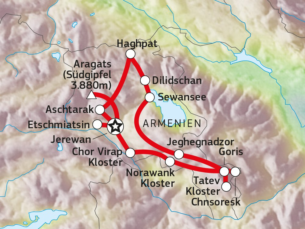 Wandererlebnis Armenien Karte