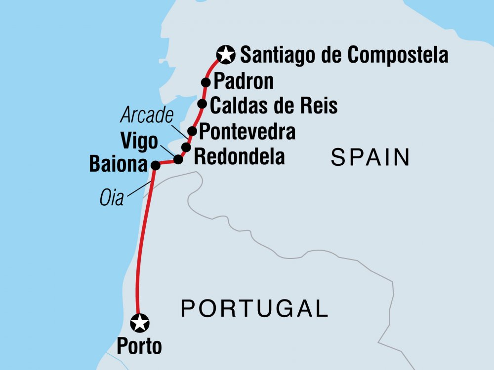 Caminho Portugues Karte