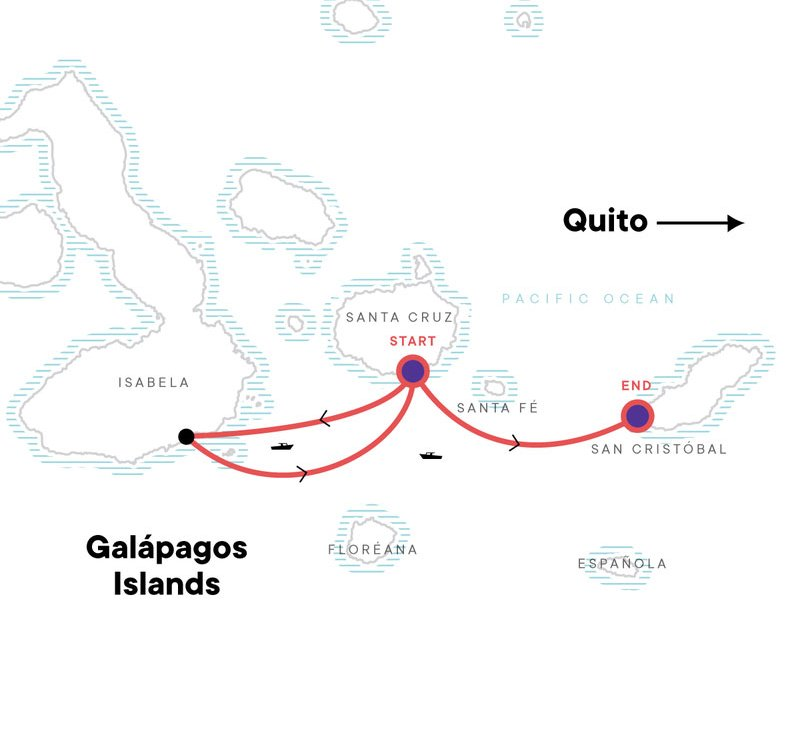 Galapagos Express Karte
