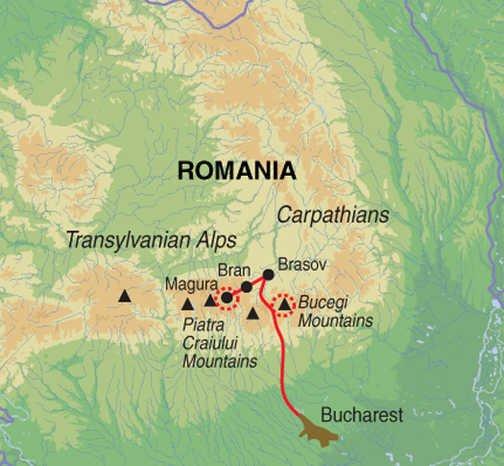 Wandern in den Karpaten Karte