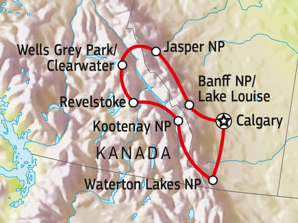 187K21001 Unberührtes Westkanada - Hike & Drive Karte